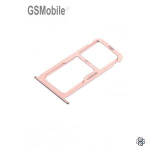 Bandeja de cartão SIM e MicroSD Huawei Honor 8 Rosa Original