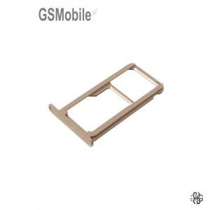 Bandeja de cartão SIM e MicroSD dourada Huawei P9