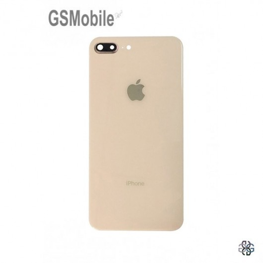 Battery Cover white camera lens for iPhone 8 Plus Gold