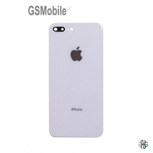 Battery Cover white camera lens for iPhone 8 Plus White
