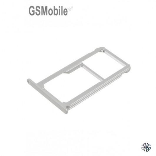 Huawei P9 Plus SIM card and MicroSD tray silver