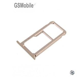 Huawei P9 Plus SIM card and MicroSD tray gold