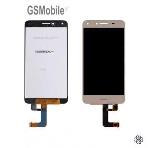 Ecrã - Display LCD Touch dourado Huawei Y5 II