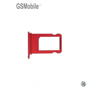 Sim Tray for iPhone 7 Red - sales of apple spare parts