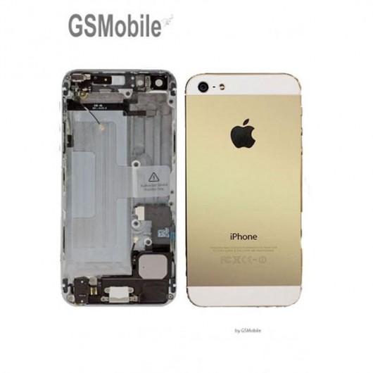 Chassis para iPhone 5 Dourado - peças sobressalentes para iPhone