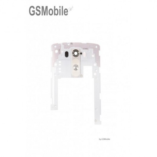 LG D855 G3 - Middle Cover + Rear Button White