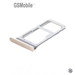 Bandeja de cartão SIM e MicroSD dourado Samsung S7 Edge Galaxy G935F