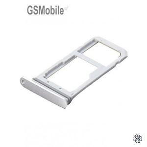 Bandeja de cartão SIM e MicroSD prata Samsung S7 Edge Galaxy G935F