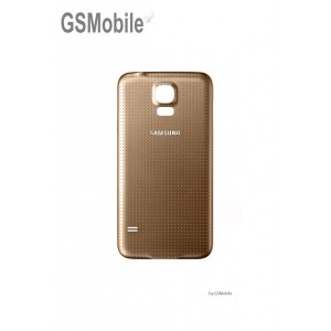 Samsung S5 Galaxy G900F battery cover gold