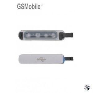 Tampa micro USB prata para Samsung S5 Galaxy G900F