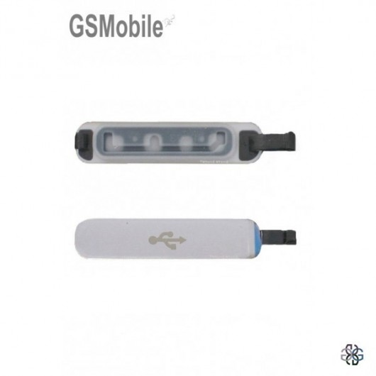 Samsung S5 Galaxy G900F Mirco USB cover silver