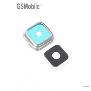 Vidro da câmera traseira com frame para Samsung S5 Galaxy G900F Prata