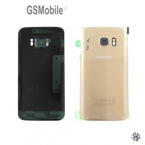 Tampa traseira Samsung S7 Galaxy G930F Dourado Original