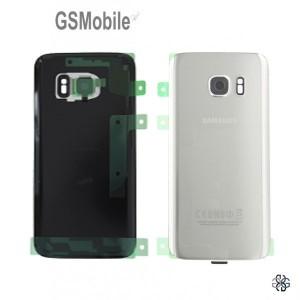 Tampa traseira Samsung S7 Galaxy G930F Prata Original