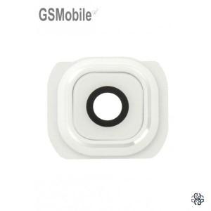 Vidro da câmera traseira con frame Samsung S6 Galaxy G920F Branco