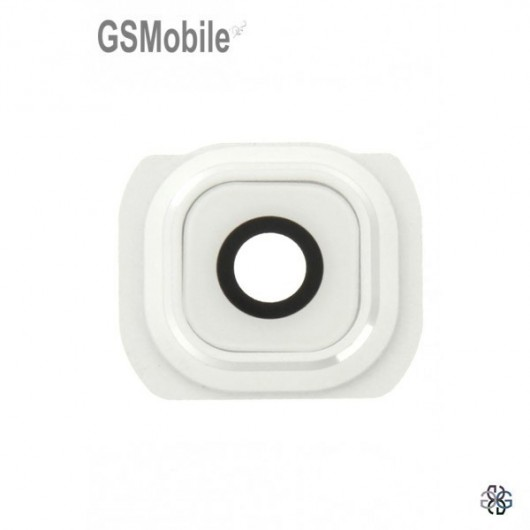 Samsung S6 Galaxy G920F Camera Lens with frame - white