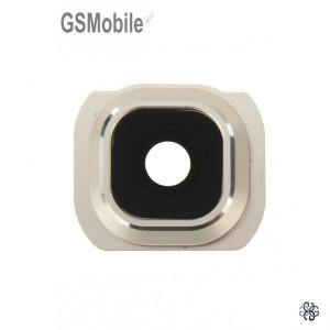 Vidro da câmera traseira con frame Samsung S6 Galaxy G920F Dourado