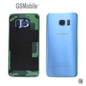 Tampa traseira Samsung S7 Edge Galaxy G935F Azul Original
