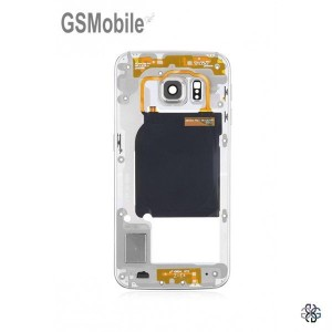 Samsung S6 Galaxy G920F Middle cover white - SWAP