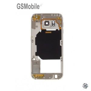 Quadro intermediário Samsung S6 Galaxy G920F Dourado Desmontagem