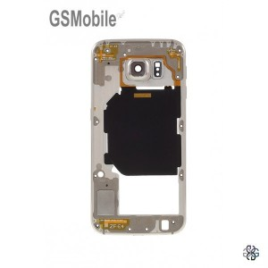 Samsung S6 Galaxy G920F Middle cover gold - SWAP