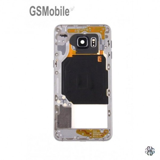 Samsung S6 Galaxy G920F Middle cover black - SWAP