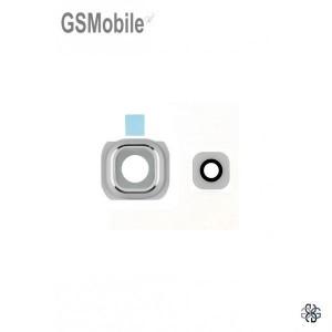 Camera frame + Camera lens Samsung G925F Galaxy S6 Edge white