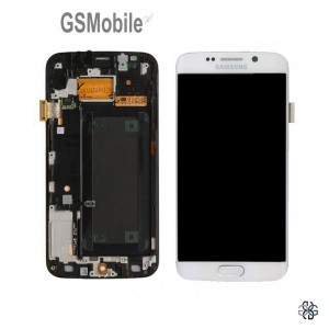 Display for Galaxy S6 Edge White - spare parts for Samsung