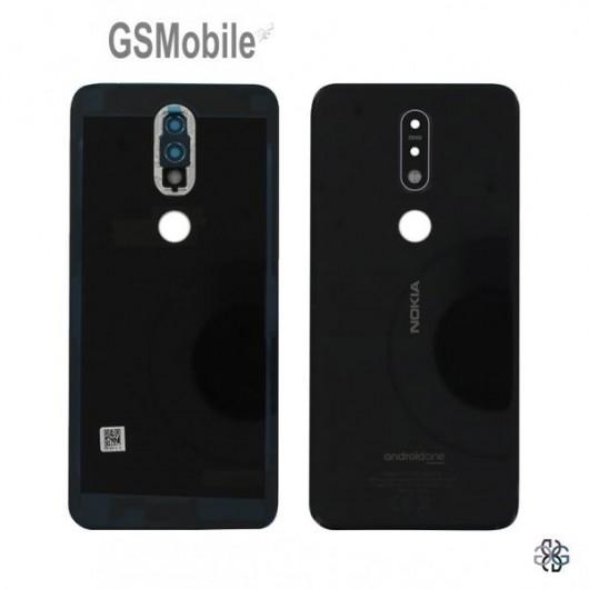 Nokia 7.1 battery cover black blue - Original
