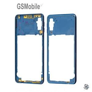 Samsung A7 2018 Galaxy A750F Middle cover Blue - Original