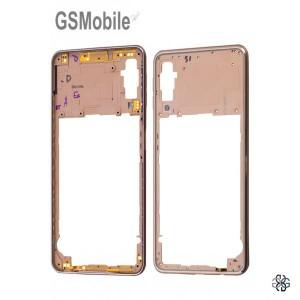 Samsung A7 2018 Galaxy A750F Middle cover Gold - Original