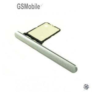 Sony Xperia 10 Sim card tray silver Original