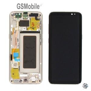 Ecrã - Display LCD Touch Samsung S8 Galaxy G950F Dourado Original