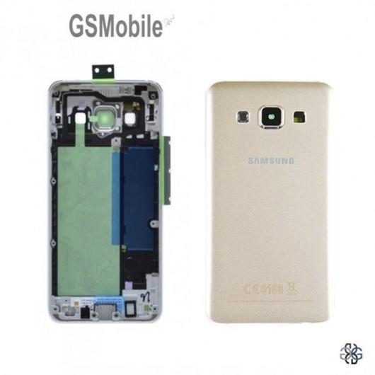 Tampa traseira Samsung A3 Galaxy A300F Dourado Original