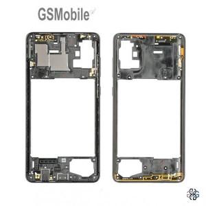 Middle Cover Samsung A71 Galaxy A715F Black - Original