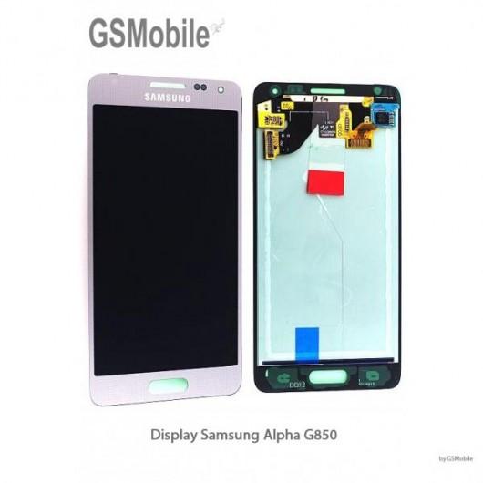 Display Samsung Alpha Galaxy G850F Silver - Original