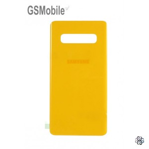 Samsung S10 Plus Galaxy G975F battery cover yellow