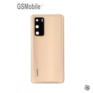 Huawei P40 battery cover gold - Original