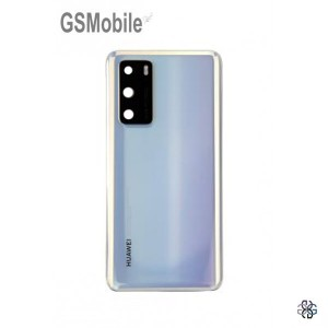 Huawei P40 battery cover ice white - Original