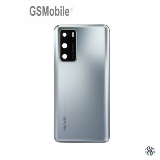 Huawei P40 battery cover silver - Original