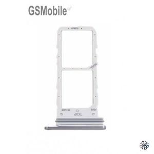 copy of SIM card and MicroSD tray Samsung A41 Galaxy A415F Silver Original