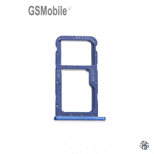 SIM card and MicroSD tray Huawei P20 Lite Blue Original