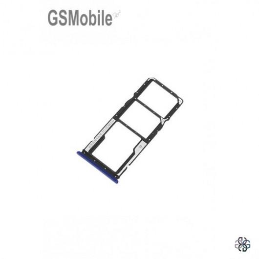 Bandeja SIM & MicroSD para Xiaomi Redmi 8A Blue