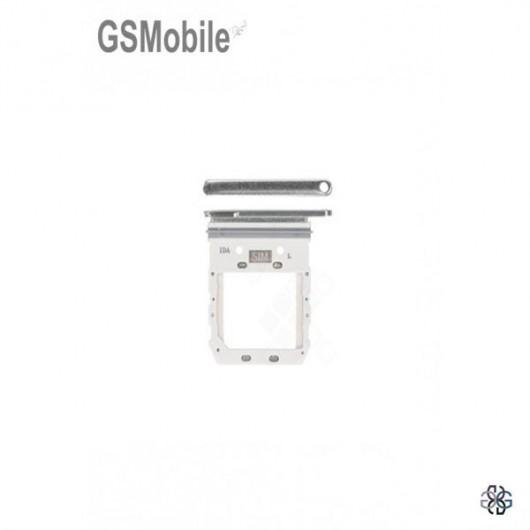 SIM card and MicroSD tray Samsung S10 5G Galaxy G977B Silver Original