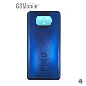 Poco X3 battery cover - Blue