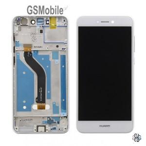 Ecrã - Display LCD Touch com frame Huawei P8 Lite 2017 Branco