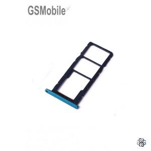 Huawei Y7 2019 SIM card and MicroSD tray blue