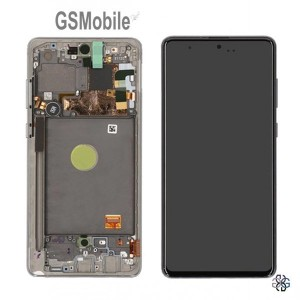 Display for Samsung Note 10 Lite Galaxy N770F silver - Original
