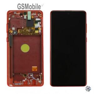 Display for Samsung Note 10 Lite Galaxy N770F red - Original