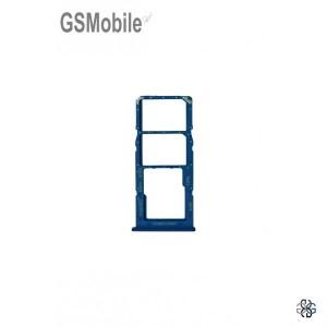 Samsung A12 Galaxy A125F SIM card and MicroSD tray blue original